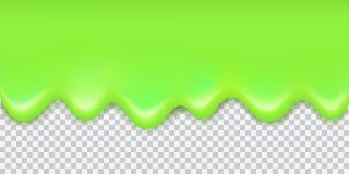 Vector la frontera verde brillante del limo que fluye con la sombra aislada encendido ilustración del vector