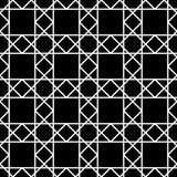 Vector la griglia senza cuciture moderna del modello della geometria, estratto in bianco e nero Fotografie Stock Libere da Diritti