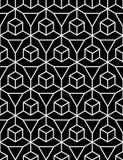 Vector la ilusión inconsútil moderna del modelo de la geometría, extracto blanco y negro Foto de archivo libre de regalías