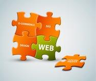 Vector la ilustración de la solución del Web