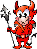 Vector la ilustración de un pequeño muchacho del diablo rojo Fotos de archivo