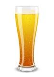 Vector la ilustración de un vidrio de cerveza stock de ilustración