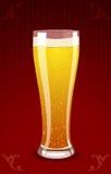 Vector la ilustración de un vidrio de cerveza Imagen de archivo