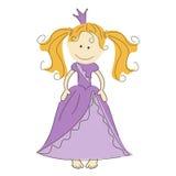 Vector la ilustración de una princesa Fotografía de archivo libre de regalías