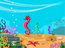 Vector la ilustración del fondo del mar Fotos de archivo