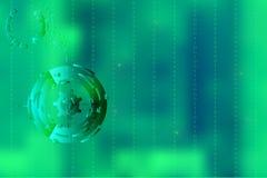 Vector la imagen con el fondo borroso encendido para el ejemplo del movimiento en negocio digital con código binario en verde Imagen de archivo libre de regalías