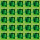 Vector la imagen de fondo abstracta del ejemplo de un modelo de formas geométricas bajo la forma de cuadrados verdes con un separ Imagenes de archivo