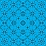 Vector la imagen de fondo inconsútil abstracta del ejemplo de líneas negras en un fondo azul que constituye un ornamento Foto de archivo libre de regalías