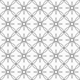 Vector la imagen de fondo inconsútil abstracta del ejemplo de líneas negras en un fondo blanco que constituye un ornamento Imagen de archivo libre de regalías