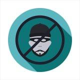 Vector la imagen de un delincuente cruzado en una muestra Foto de archivo libre de regalías