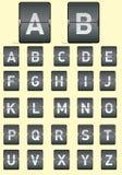 Vector la imagen de un tablero electrónico con el alfabeto Fotografía de archivo libre de regalías