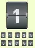 Vector la imagen de un tablero electrónico con el alfabeto Números fijados Imagen de archivo libre de regalías