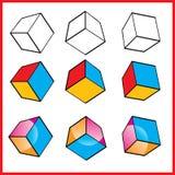Vector la insignia cúbica Foto de archivo libre de regalías