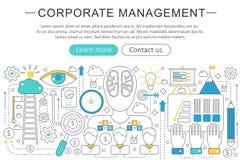 Vector la línea fina elegante concepto completamente moderno de la gestión de negocio corporativo Disposición de los elementos de ilustración del vector