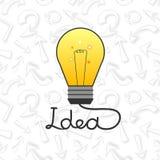 Vector la lampadina nelle idee piane dell'elemento di stile Fotografie Stock