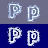 Vector la letra P en fondo gris y azul Imagen de archivo libre de regalías