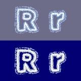 Vector la letra R en fondo gris y azul Fotos de archivo libres de regalías
