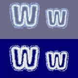 Vector la letra W en fondo gris y azul Foto de archivo libre de regalías