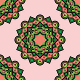 Vector la mandala coloreada Deco hermosa, modelo inconsútil Elemento, amuleto étnico ilustración del vector