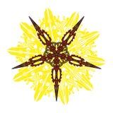 Vector la mandala, ornamento geométrico redondo, estampado de flores estilizado Elemento aislado del diseño colorido en un blanco Imagen de archivo libre de regalías