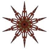 Vector la mandala, ornamento geométrico redondo, estampado de flores estilizado Elemento aislado del diseño colorido en un blanco Fotografía de archivo