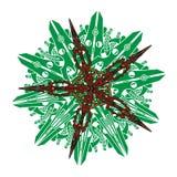 Vector la mandala, ornamento geométrico redondo, estampado de flores estilizado Elemento aislado del diseño colorido en un blanco Imagenes de archivo