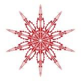 Vector la mandala, ornamento geométrico redondo, estampado de flores estilizado Elemento aislado del diseño colorido en un blanco Fotos de archivo