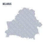 Vector la mappa astratta dell'onda della Bielorussia ha isolato su un fondo bianco Fotografia Stock Libera da Diritti