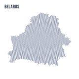 Vector la mappa covata estratto della Bielorussia ha isolato su un fondo bianco Fotografia Stock Libera da Diritti