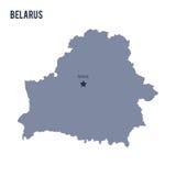 Vector la mappa della Bielorussia ha isolato su fondo bianco Fotografie Stock