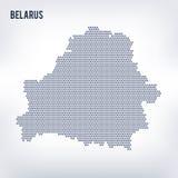 Vector la mappa di esagono della Bielorussia su un fondo grigio Immagini Stock Libere da Diritti
