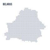 Vector la mappa di pixel della Bielorussia ha isolato su fondo bianco Fotografia Stock Libera da Diritti