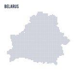 Vector la mappa punteggiata della Bielorussia ha isolato su fondo bianco Immagini Stock Libere da Diritti