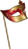 Vector la mascherina di carnevale con la maniglia Immagini Stock Libere da Diritti