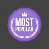 Vector la mayoría de la insignia plana popular, etiqueta redonda libre illustration