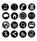 Vector la medios imagen del icono sobre la instrucción de los medios y de información Fotografía de archivo