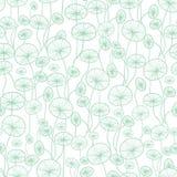 Vector la menta verde e la struttura subacquea bianca della pianta dell'alga che disegna il fondo senza cuciture del modello Gran illustrazione vettoriale