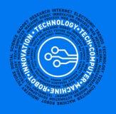 Vector la nube de la palabra de la tecnología, de la tecnología, del ordenador, de la máquina, del robot y de la innovación Imagen de archivo