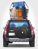 Vector la parte anteriore laterale automobilistica di viaggio - vista posteriore Fotografia Stock