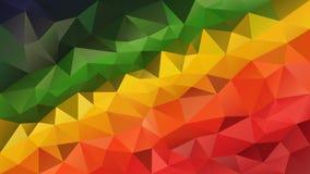 Vector la pendiente roja de la diagonal del color verde de amarillo anaranjado del fondo poligonal irregular abstracto Foto de archivo libre de regalías