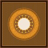 Vector la plantilla árabe de oro de la tarjeta con los círculos y los modelos adornados diseño para las cubiertas, impresión, tar Fotografía de archivo libre de regalías