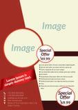 Vector la plantilla del aviador, del folleto, de los interioristas aviador, de la portada de revista y del cartel del negocio - 0 Imagen de archivo