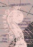 Vector la plantilla del cartel de la música del jazz, de la roca o de los azules Imagen de archivo