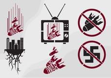 Vector la plantilla en estilo de la propaganda stock de ilustración