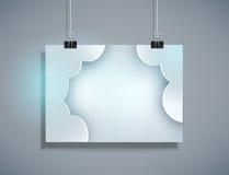 Vector la plantilla gris para la ejecución del diseño en la pared (horizontal ilustración del vector