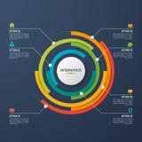Vector la plantilla infographic de la carta del círculo para la visualización de los datos Fotografía de archivo