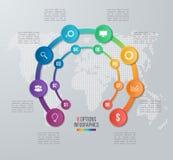 Vector la plantilla infographic del círculo para los gráficos, cartas, diagramas Imagenes de archivo