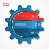 Vector la plantilla infographic del estilo del engranaje del negocio y de la industria para los gráficos, las cartas, los diagram Fotos de archivo