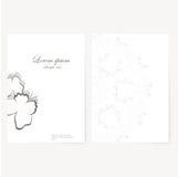 Vector la plantilla para la carpeta, tarjeta de visita y Imagen de archivo libre de regalías
