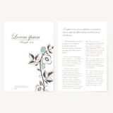 Vector la plantilla para la carpeta, tarjeta de visita y Fotos de archivo libres de regalías